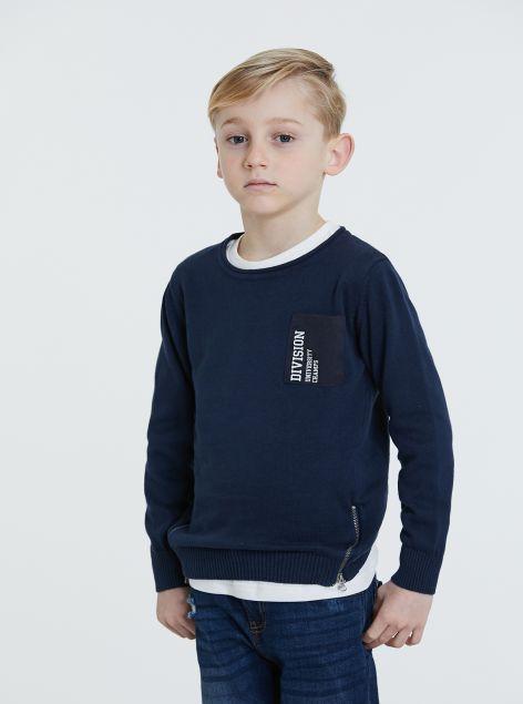 Pullover zip a dettaglio