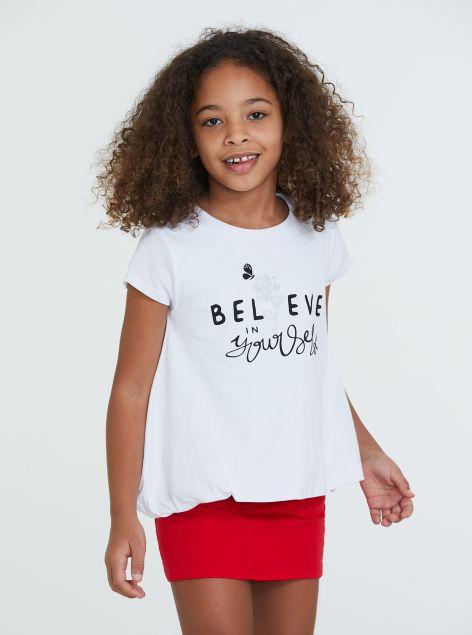 T-Shirt ampia con stampa
