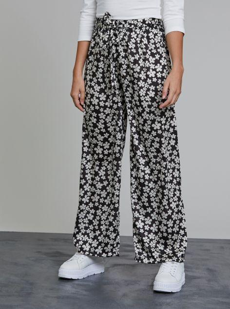Pantaloni fantasia floreale