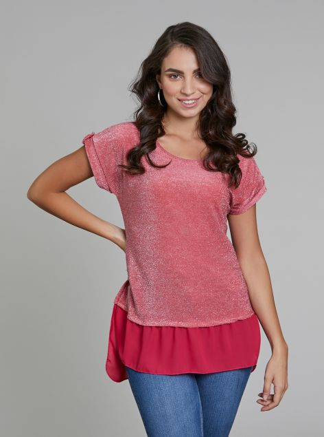 T-Shirt effetto lucentezza
