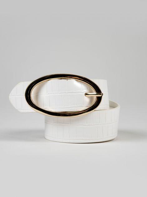 Cintura fibbia ovale