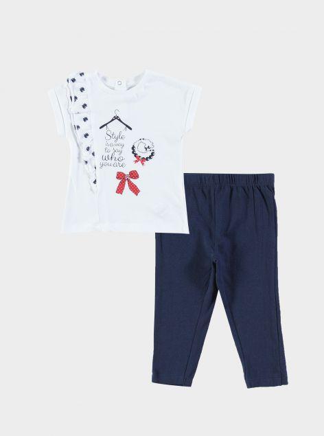 Completo t-shirt con leggins