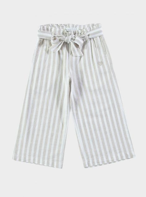 Pantaloni culotte a righe