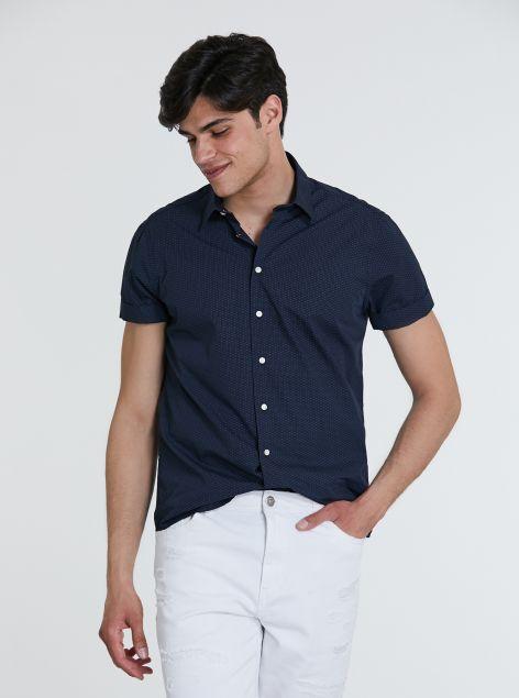Camicia microfantasia regular-fit