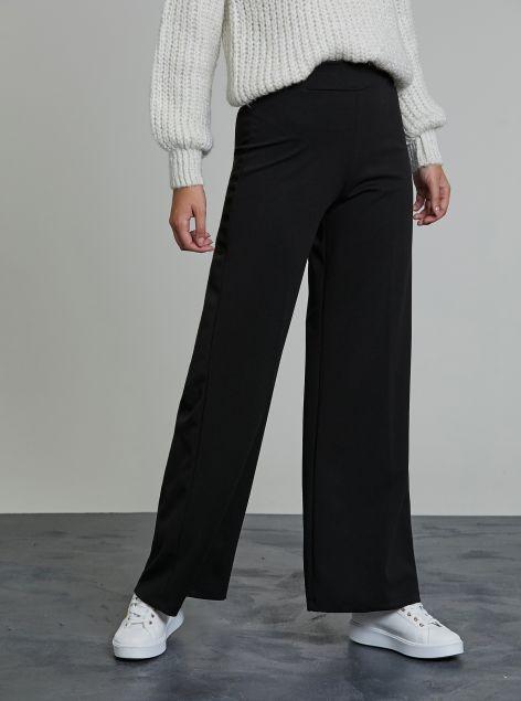 Pantaloni ampi con elastico in vita
