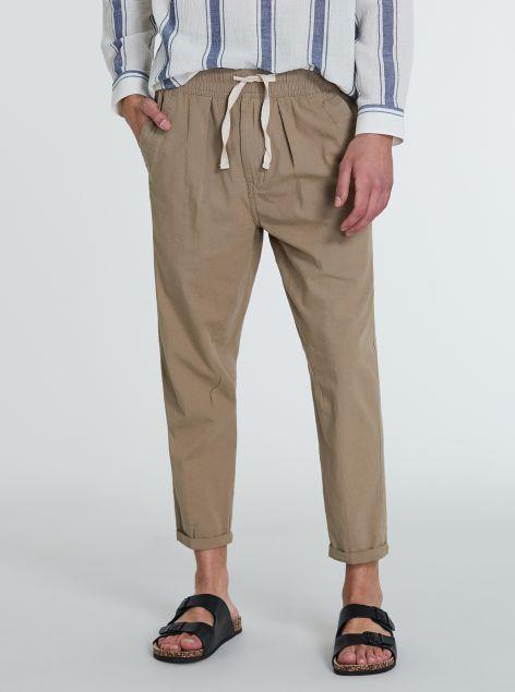 Pantaloni in lino e cotone