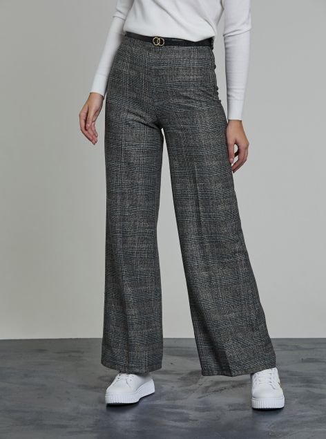 Pantaloni palazzo con cintura