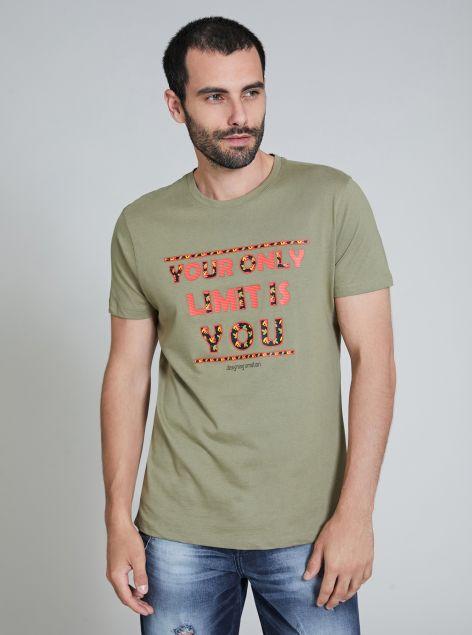 T-Shirt con stampa applicata
