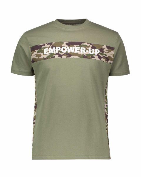 T-Shirt con stampa mimetica