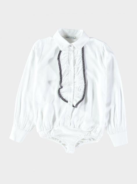 Camicia body con rouches