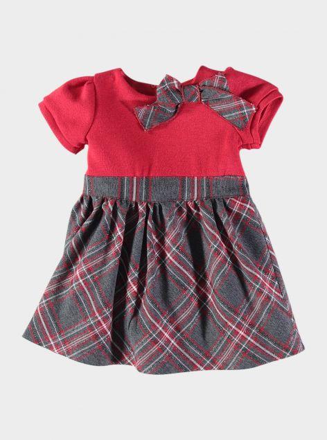 Abitino stampa scozzese da neonata