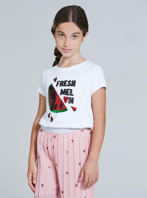 T-Shirt con perline