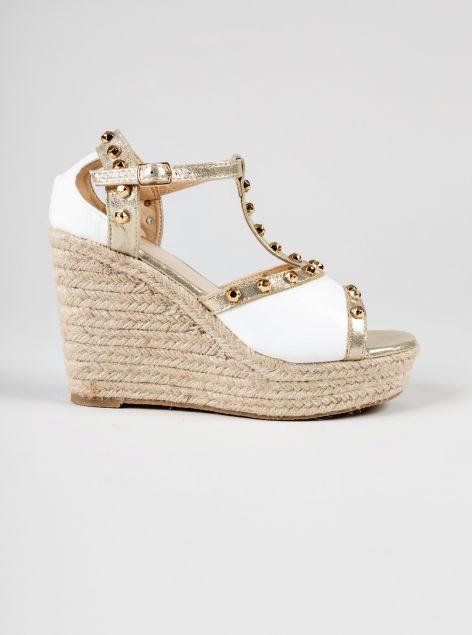 Sandalo con tacco a zeppa