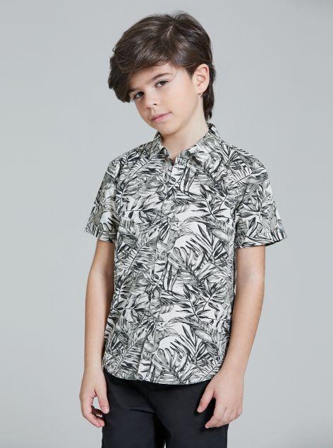 Camicia fantasia tropicale
