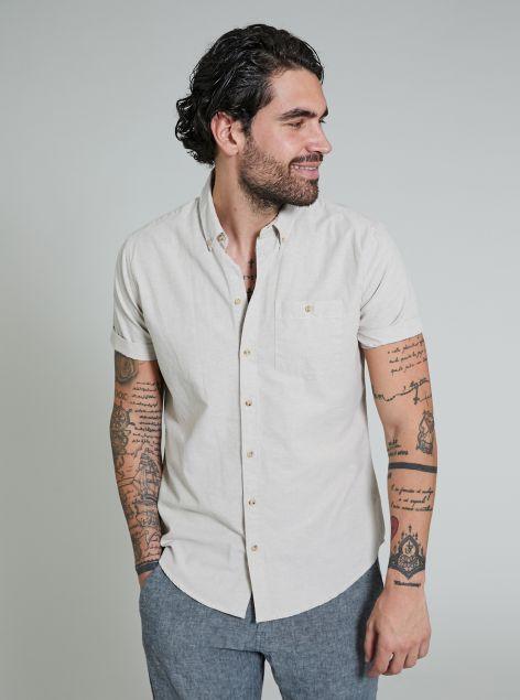 Camicia con taschino a lato