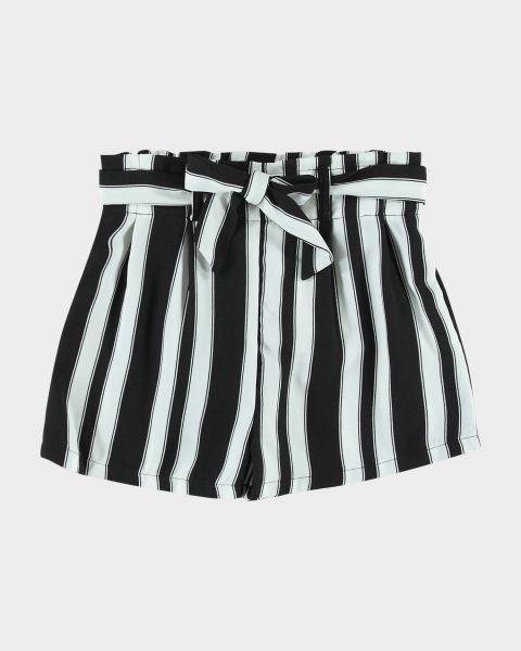 Shorts con fiocco da bambina