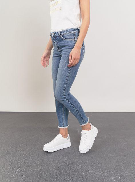 Jeans Slim-fit sfrangiato