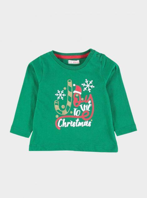 T-Shirt natalizia da neonato