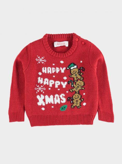 Pullover natalizio da neonato