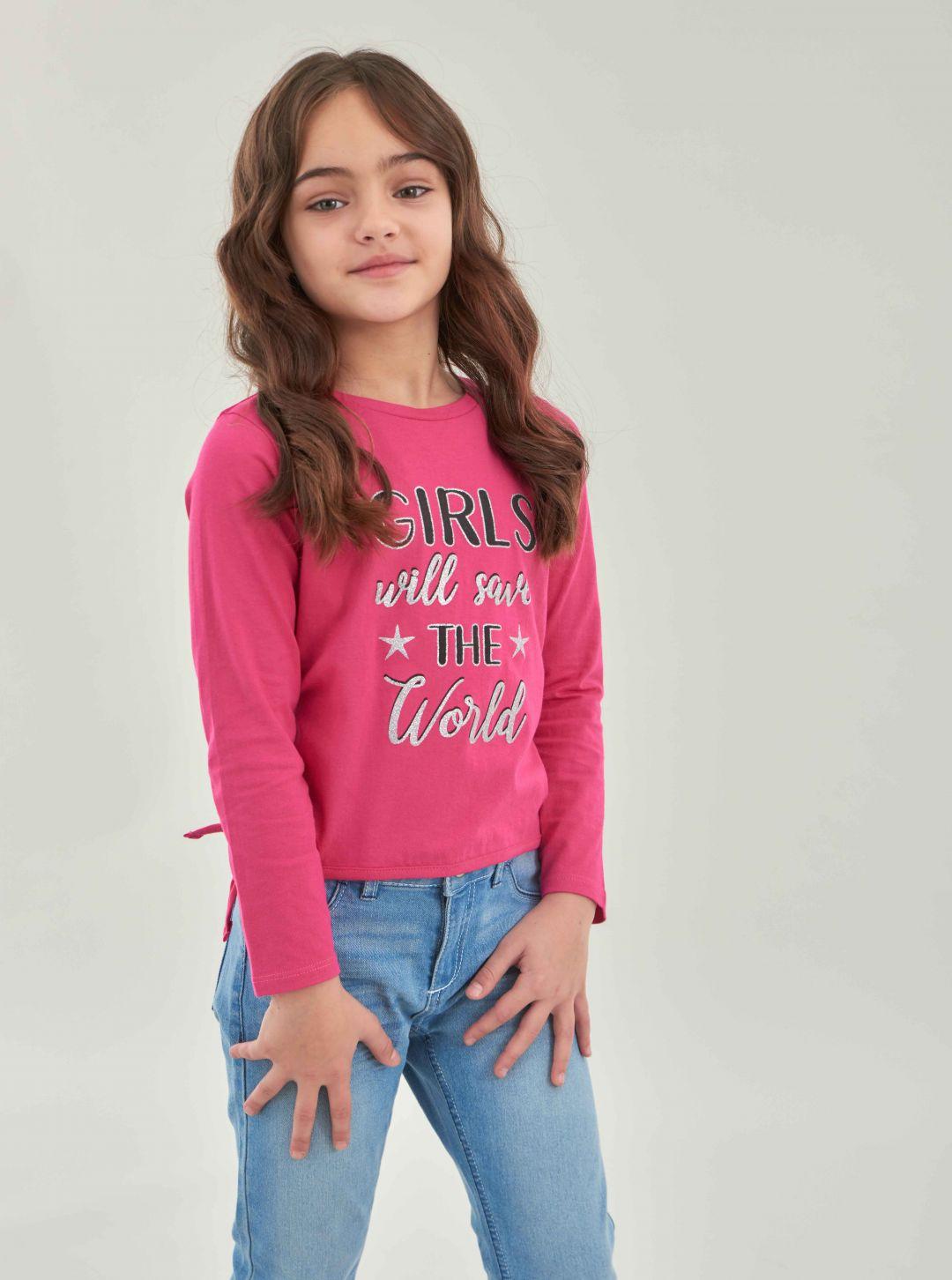 T-shirt con laccetti laterali