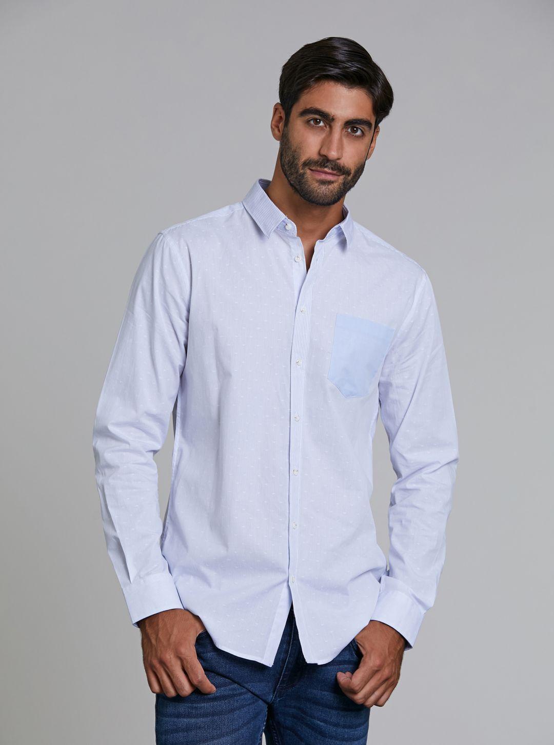 Camicia righe con taschino