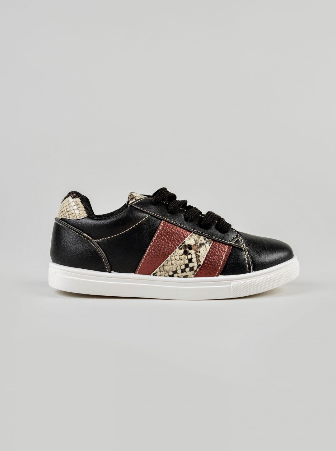 Sneakers con inserti pitonati