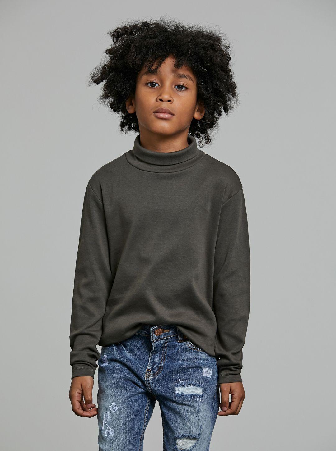 T-Shirt basic collo alto