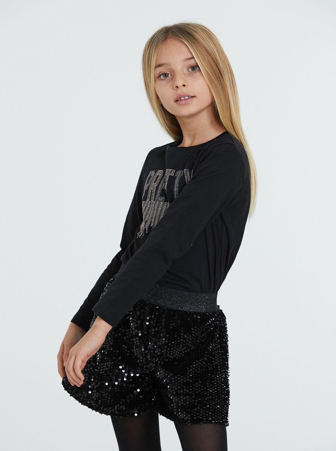 T-Shirt Pretty con diamantini
