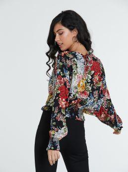 Blusa floreale  maniche ampie