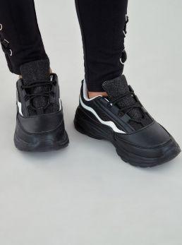 Sneakers con inserti in glitter
