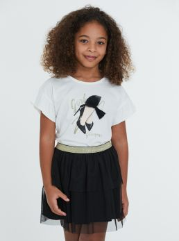 Completo t-shirt e gonna in tulle