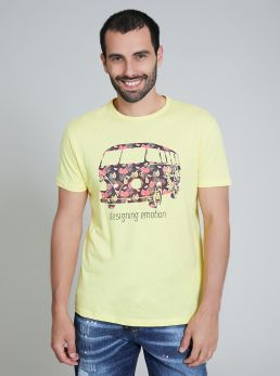 T-Shirt con stampe a fantasia