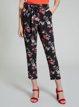 Pantaloni stampa a fiori