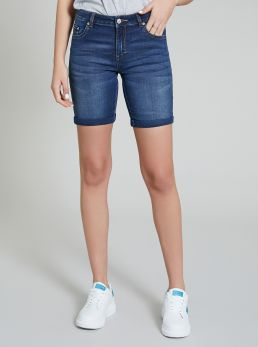 Bermuda da donna in denim