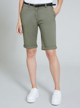 Bermuda da donna in cotone elastico