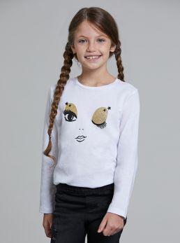 T-Shirt con stampa glitterata