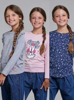 3-Pack T-Shirt bambina