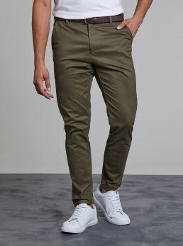 Pantalone chinos con cintura