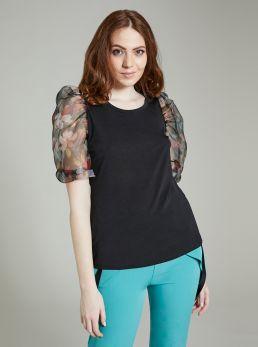 T-shirt con maniche velate