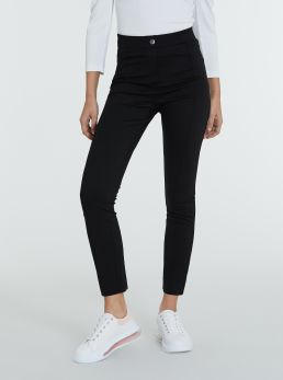 Pantaloni super-skinny a vita alta