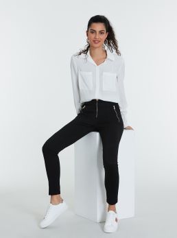 Leggings con zip