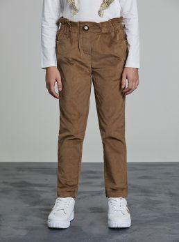Pantaloni vita alta arricciata