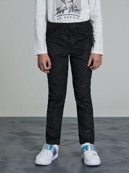 Pantaloni brillantinati con elastico
