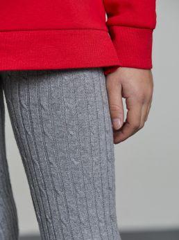 Leggings calza con treccine