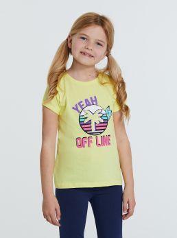 T-Shirt manica con risvoltini
