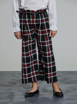 Pantaloni coulotte a quadri