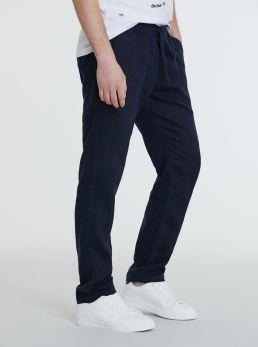 Pantaloni in lino con elastico