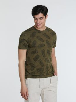 T-Shirt con stampe tropicali