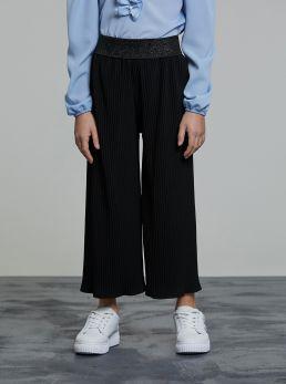Pantaloni culotte plissettati