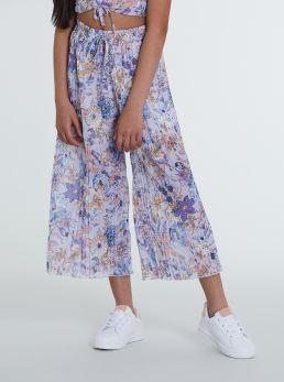 Pantaloni plissettati fantasia